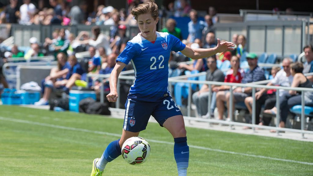 Meghan Klingenberg started at left-back for the United States Women's National Team (Photo: YouTube.com)